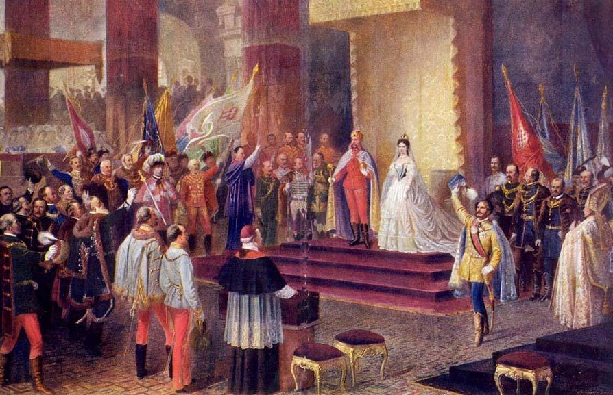 Η στέψη του βασιλικού ζεύγους στην Ουγγαρία. Photo Credits: Wikimedia Commons