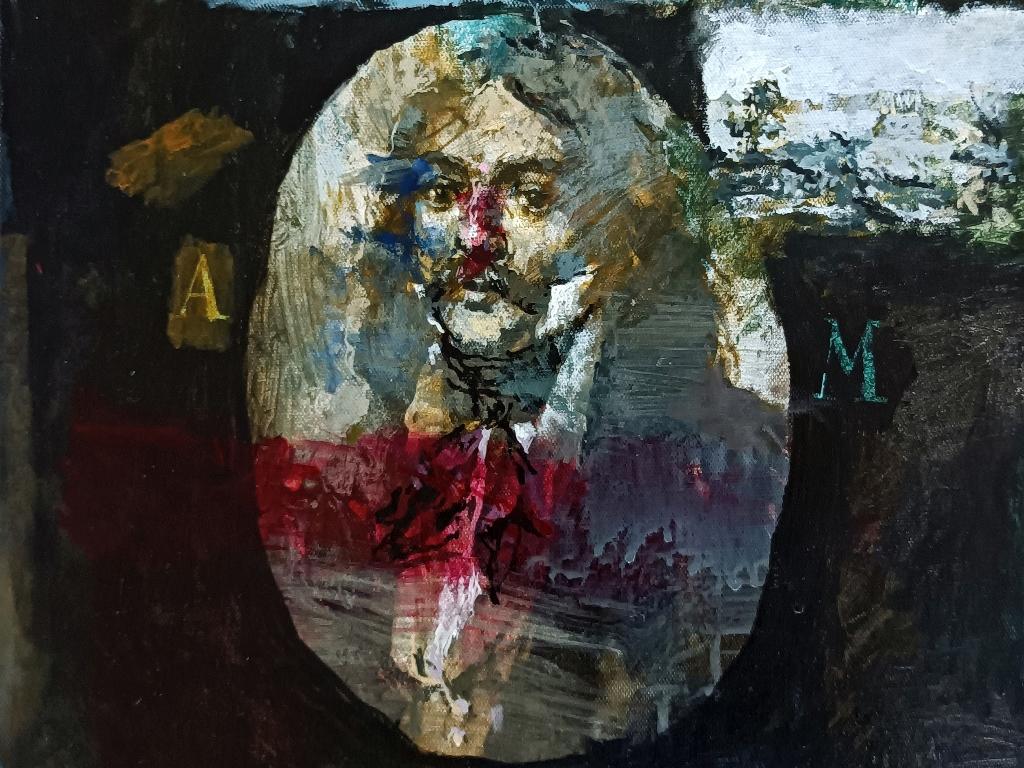 1. Γιάννης Αδαμάκης, Αλέξανδρος Μαυροκορδάτος, 2021 Ακρυλικά σε μουσαμά, 50Χ40 εκ.