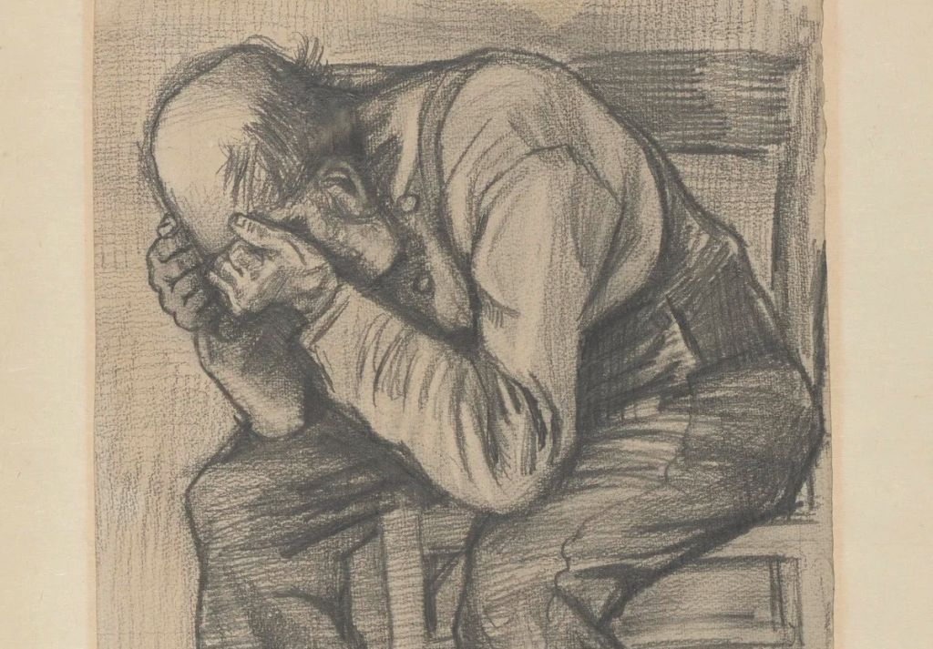 Vincent van Gogh,«Study for Worn Out» 1882, λεπτομέρεια.