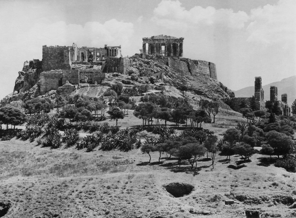Fred Boissonnas, Η Ακρόπολη, πανοραμική θέα από τα δυτικά, 1912  Συλλογή Ιωάννη Τρικόγλου, Κεντρική Βιβλιοθήκη ΑΠΘ