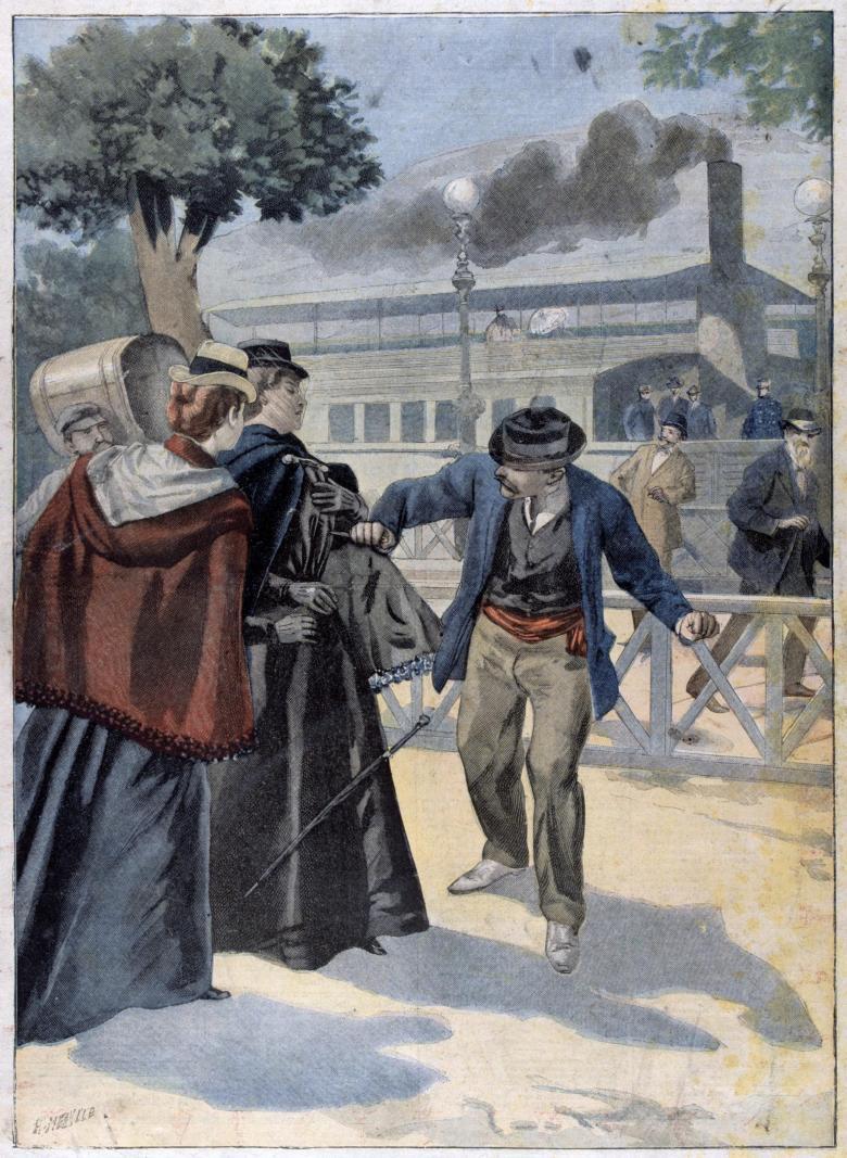 Η δολοφονία της Αυτοκράτειρας Ελισάβετ στην Γενεύη από τον Λουίτζι Λουκένι. Photo Credits: Wikimedia Commons