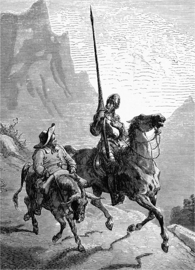 Εικονογράφηση του Δον Κιχώτη κι του Σάντσο από τον Γκιστάβ Ντορέ. Photo Credits: Wikimedia Commons
