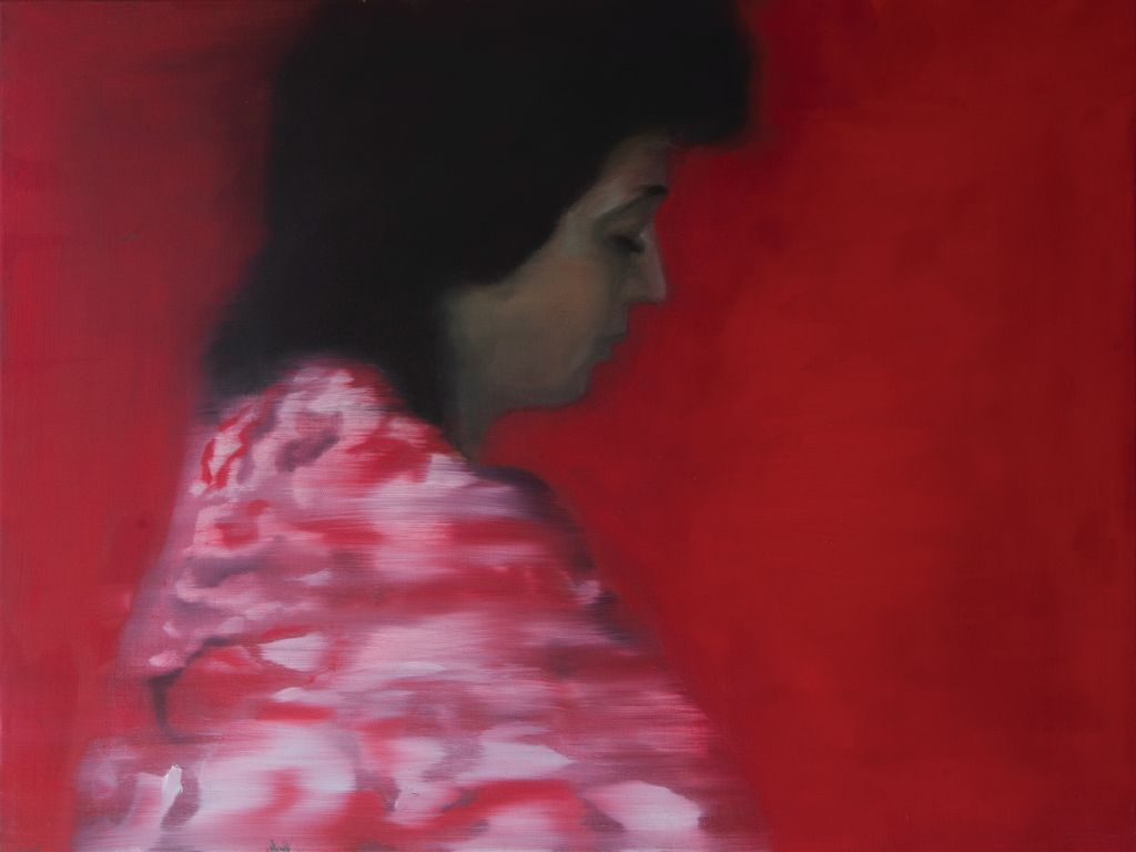 In red (oil on canvas, 60 x 45 cm, 2018)