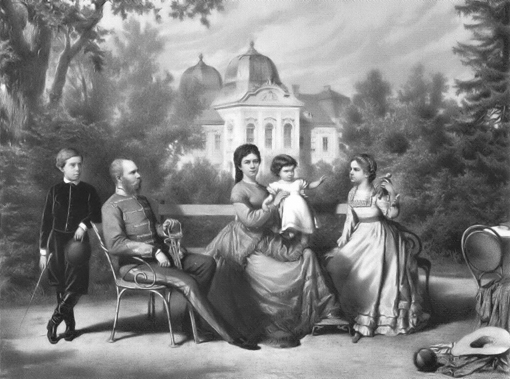 Η πριγκίπισσα Σίσσυ, ο Αυτοκράτορας Φραγκίσκος Ιωσήφ, ο πρίγκιπας Ροδόλφος, η Αρχιδούκισσα Γκιζέλα και η Αρχιδούκισσα Μαρία Βαλέρια της Αυστρίας. Photo Credits: Wikimedia Commons