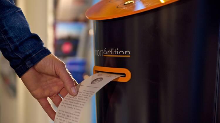 Αυτόματο μηχάνημα διηγημάτων. Photo Credits: O. Alexandre