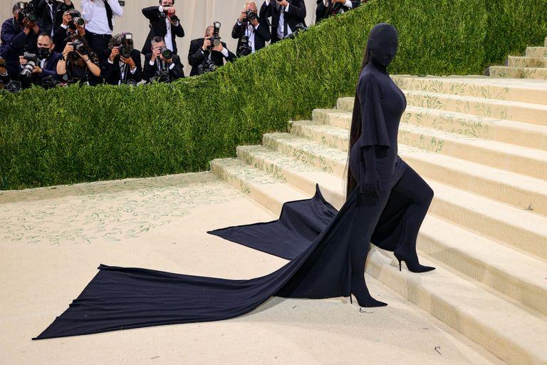 Η Kim Kardashian στο Met Gala, photo credits: Theo Wang/Getty Images