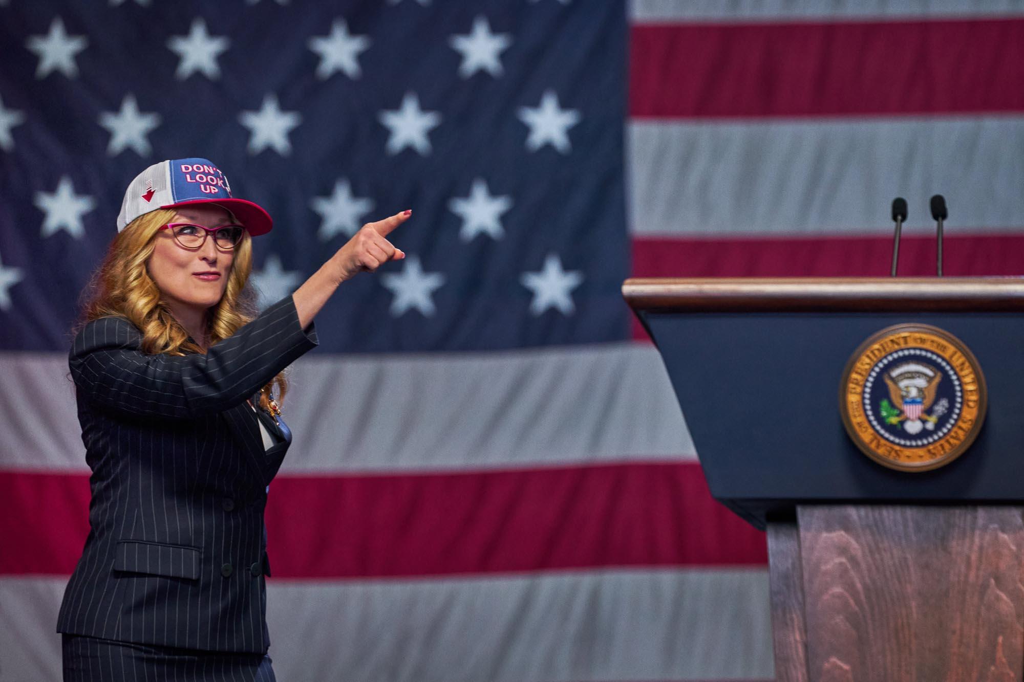 Η Μέριλ Στριπ ως Πρόεδρος της Αμερικής στο Don't Look Up