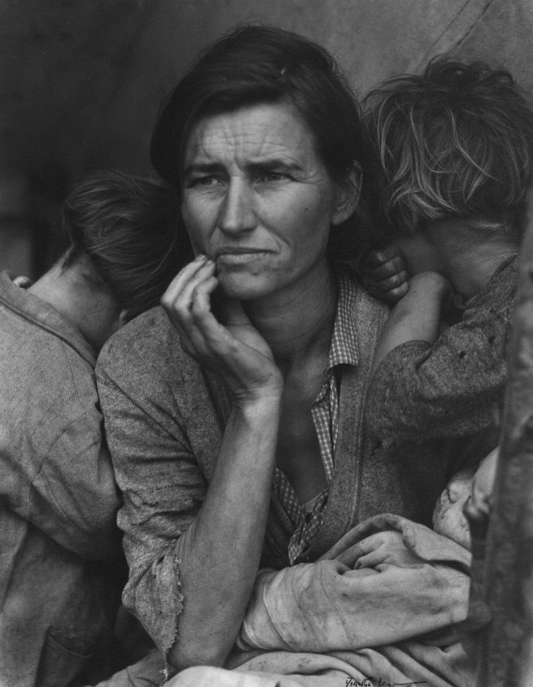 Μητέρα Μετανάστης της Ντοροθέα Λανγκ, Καλιφόρνια 1936. Photo Credits: The Dorothea Lange Collection, the Oakland Museum of California