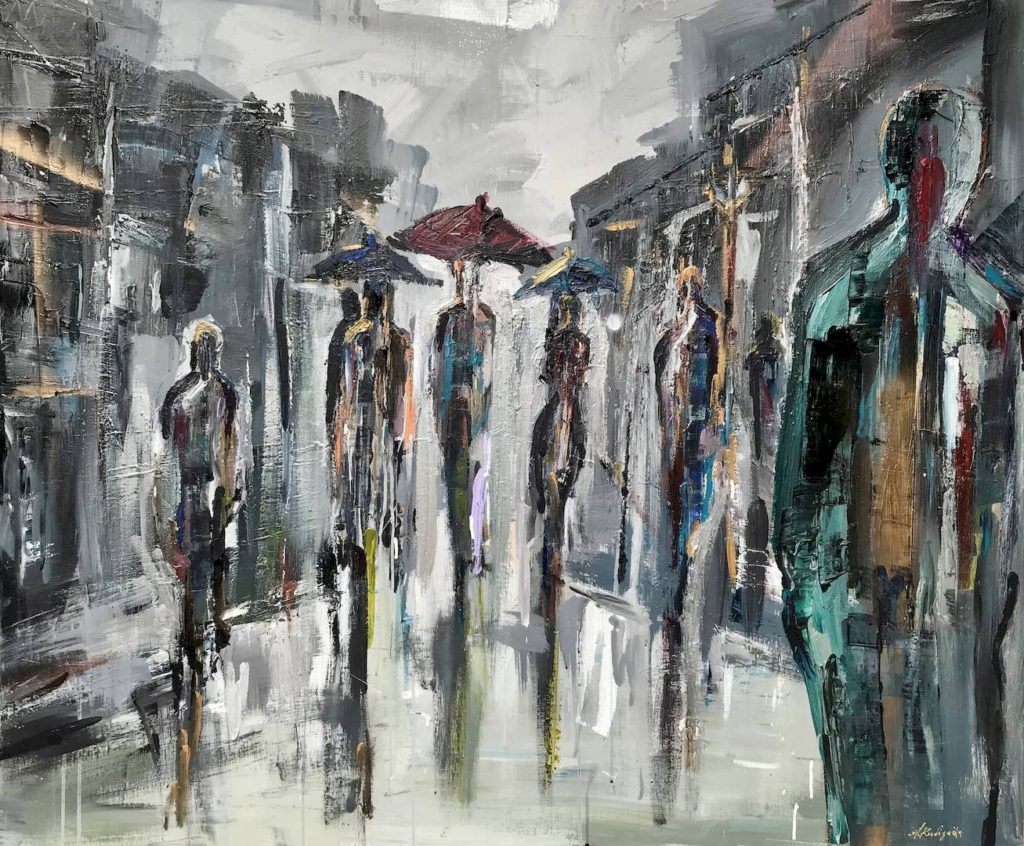 Αστικές Φιγούρες: Έκθεση ζωγραφικής της Αλεξίας Κουδιγκέλη στην Αίθουσα Τέχνης «αγκάθι – κartάλος»