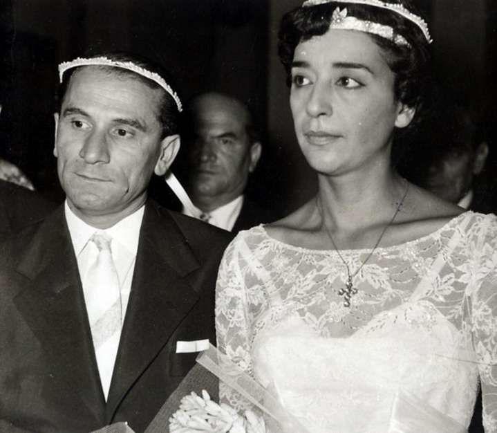 Ο γάμος του Κώστα Χατζηχρήστου με την Καίτη Ντιριντάουα.