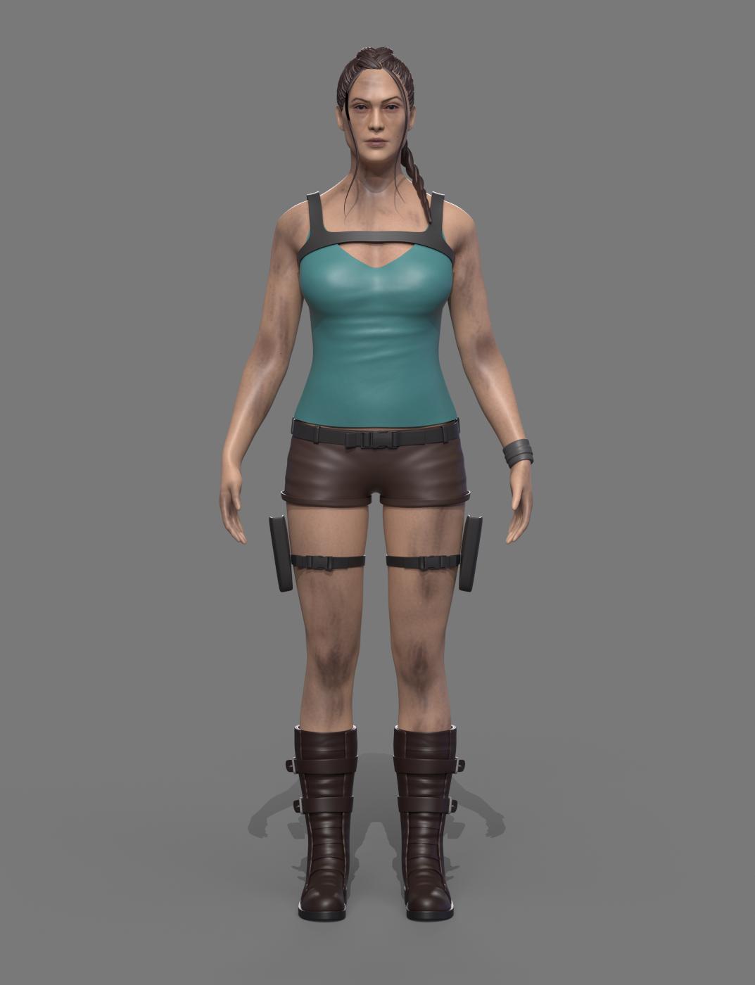 Η Lara Croft σήμερα, credits: Comparethemarket