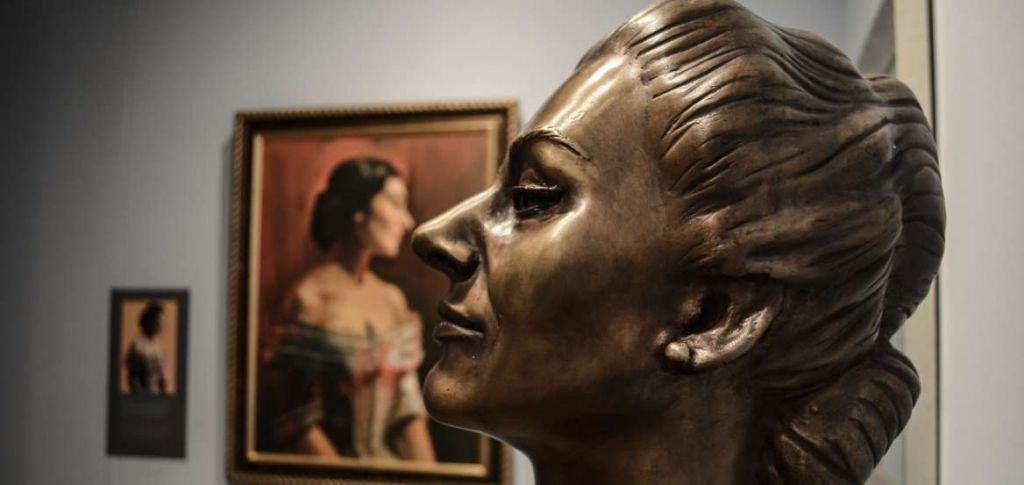 Προτομή της Μαρίας Κάλλας στην έκθεση «Ο Μύθος Ζει» στο Ίδρυμα Θεοχαράκη/ Φωτογραφία αρχείου (Πηγή: Eurokinissi)